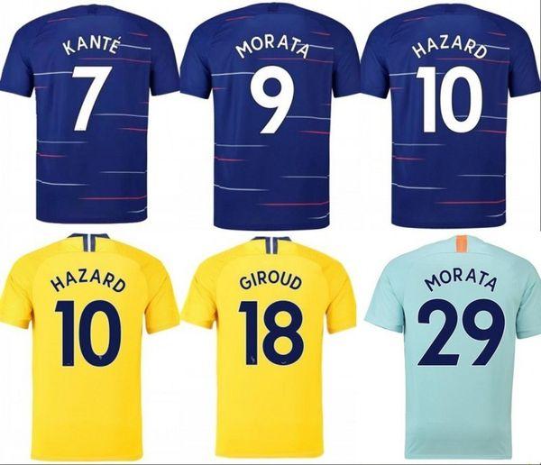 brand new 6d9d0 a541c 2019 HAZARD JORGINHO Soccer Jersey 18 19 KOVACIC GIROUD KANTE Man Football  Shirt RUDIGER WILLIAN Maillot Uniforms Home Away Third Children Kit From ...