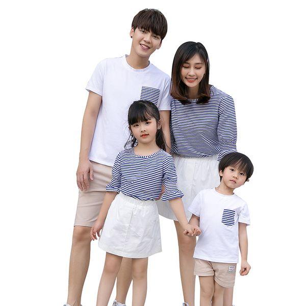 Aile Eşleştirme Giyim Anne Kızı Elbiseler Rahat Giyim Aile Bak Elbise Baba oğul eşleştirme giyim Kıyafetler Yaz