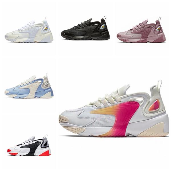 2019 новейший Zoom 2K M2K Tekno daddy 2000 Sail Бело-черный темно-серый для мужской кроссовки кроссовки спортивная обувь