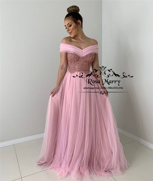 Pink Off Shoulder Plus Size Prom Dresses 2020 A Line Vintage Lace Cheap  Long Tulle African Arabic Girls Formal Evening Party Gowns Short Prom  Dresses ...