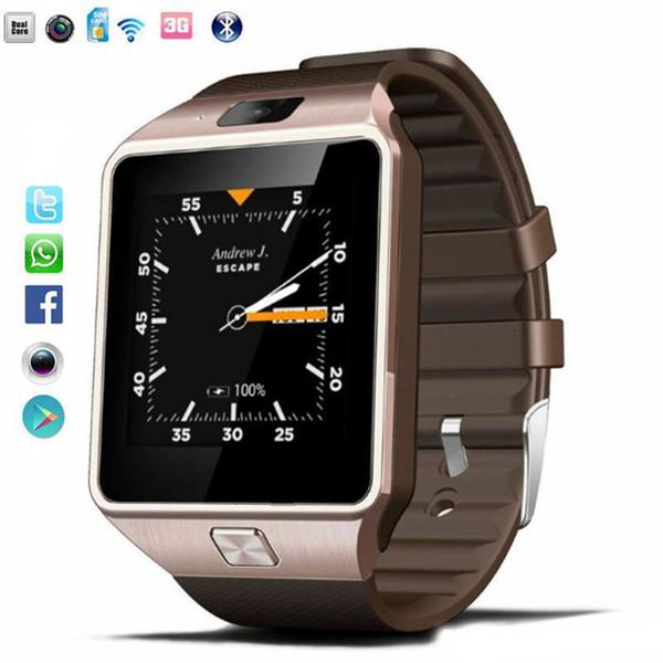 Smartwatch Intelligent Digital Sport Gold Smart Watch DZ09 Pedometer for Phone Android IOS Wrist Watch Men Women Watches Fashion