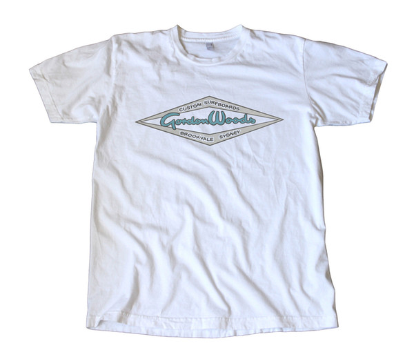 Vintage Gordon Woods Surfboards Decal T-Shirt - Australia, Surfing, Surf Divertido envío gratis camiseta Unisex top