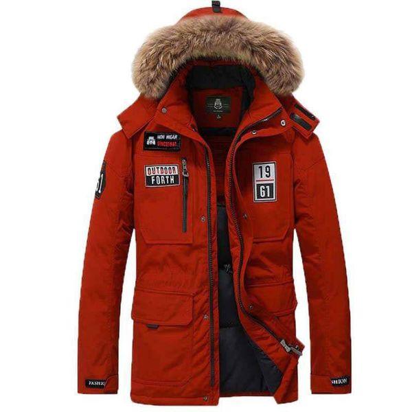 2019 Winter Coat Men Parkas 80% White Duck Down Jacket Men Parka Jackets Thick Warm Windbreaker Parka Fur Hooded Collar M-3XL