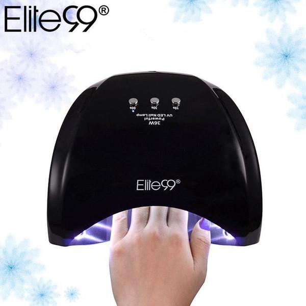 Elite99 Profesional 36w Lámpara Led Manicure Gel Barniz Lámpara Secador de Uñas Luz Uv 30s / 60s / 90s Para Nail Art Curado T190625