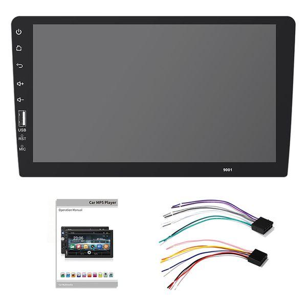 AABB-2 Din Car Radio 9 pulgadas Full Press Mirror Link Reproductor estéreo para automóvil Reproductor multimedia Mp5 Bluetooth Usb Auto-Radio