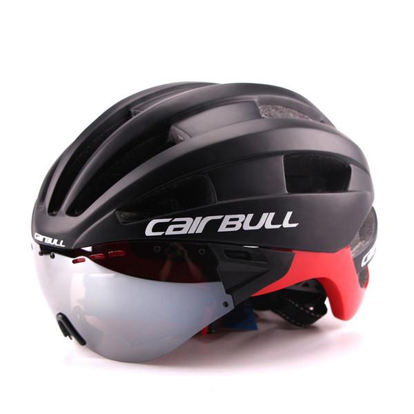 Ultra hafif 235g Gözlük Bisiklet Kask Yol Dağ MTB Bisiklet Dişli In-kalıp Bisiklet Kask Ile Güneşlik Kaskları M54-58cm