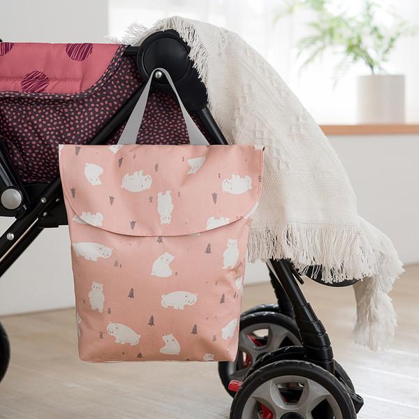 6styles Animal Printed Nappy Bags Wasserdichte Wet Bag Wiederverwendbare Travel Wet Dry Bags Wickeltasche für Neugeborene Baby Handtasche FFA2641