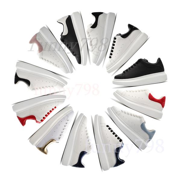 Nouveau Pas cher Plate-forme Ace Classic marque Chaussures Casual chaussures Hommes Femmes Sneakers Semelles Velvet Heelback Designers étoiles Mcqueens Chaussures Habillées