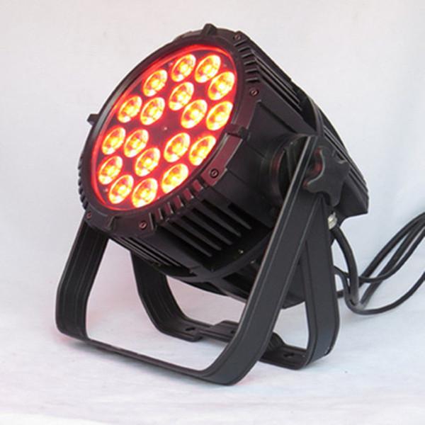 6XLOT impermeable LED 18x10W luz par, 18 * 10W RGBW LED luz par, IP65 Par LED al aire libre puede organizar iluminación Show DMX 4 / 8CH modo dual