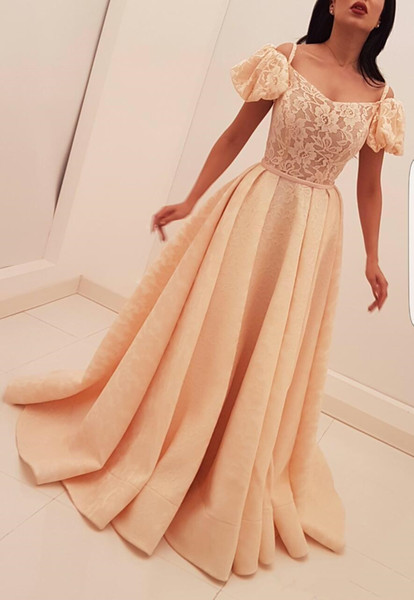 Ruffles sleeve Prom Dresses Spaghetti strap Elegant Cocktail Party Dress for Women ladies 2019 Evening Dresses Lace Appliques