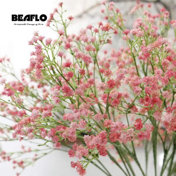 Дыхание Цветок Гипсофила Поддельный Силикон завод 1pc Искусственные младенца для венчания Home Hotel Party Decoration 5 цветов