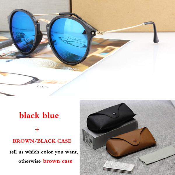 Occhiali da sole rotondi 2447 all'ingrosso-Designer per occhiali da sole sportivi retrò maschili e femminili donne uomini lenti uv400 Oculos de sol con scatola marrone