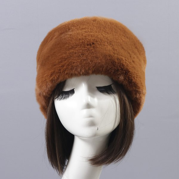 faux rex fur beanies fake fur hat japanese style fluffy pom pom velvet bomber hat multicolor winter warm