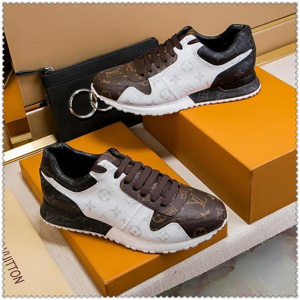 2019 zapatos deportivos casuales de encaje para hombres de primavera y otoño zapatos de skate de cuero para deportes de diseño al aire libre entrega rápida embalaje original de la caja
