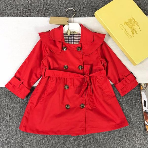 vêtements de la marque de vêtements pour enfants fille coupe-vent 2019 nouvelle version coréenne des grands automne vêtements pour enfants manteau longues filles