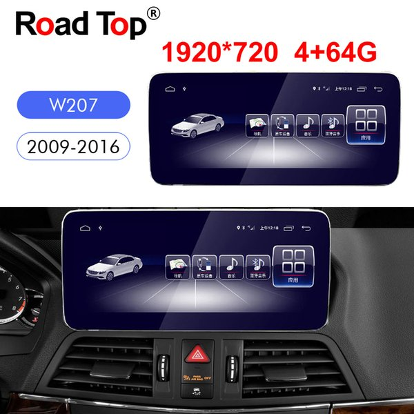 Octa 8-Core-CPU 4 + 64G Android 8.1 Autoradio Bluetooth-GPS-Navigation WiFi Head Unit-Bildschirm für Mercedes Benz E-Klasse Coupe C207