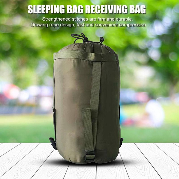Outdoor Camping Sleeping Bag Waterproof Compression Stuff Sack Bag Pack Leisure Hammock Storage Pack 38*18*18cm