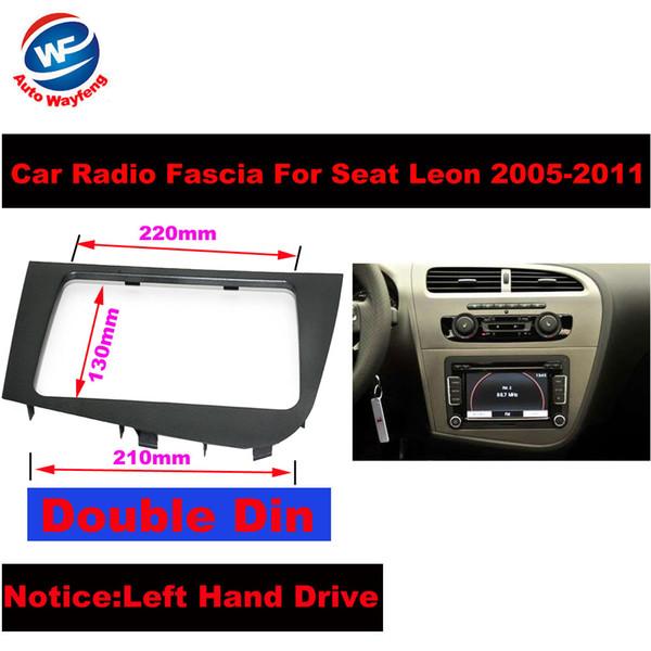 Casal 2 Estéreo DIN Car fáscias moldura do painel placa unidade Radio Chefe de Navegação GPS para 2.005-2.011 banco do condutor Leon Esquerda Direita