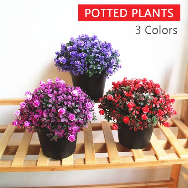 Crescent Moon Lotus Artificial Plant DIY Wedding Modern Simulated Potted Plants