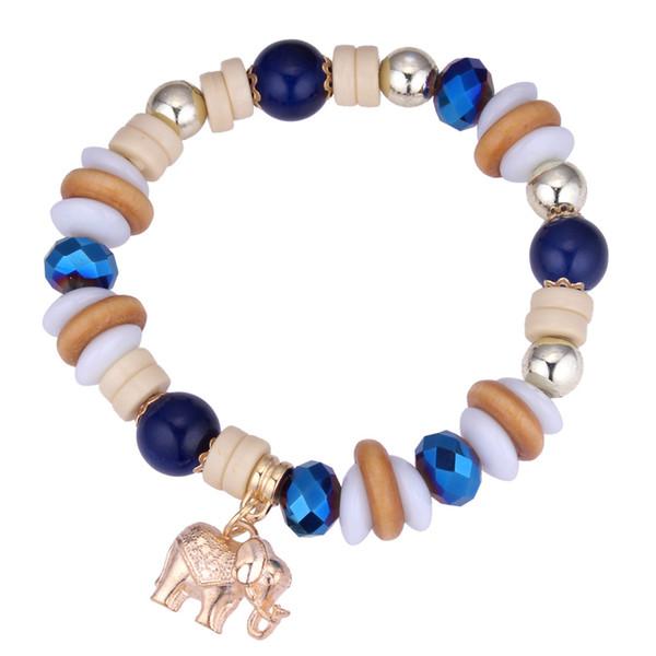 Braccialetti all'ingrosso di modo dei braccialetti di modo di allungamento del braccialetto delle perle di elefante di nuovo arrivo