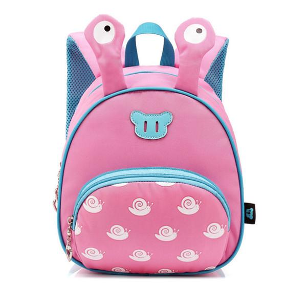 Kindergarten baby boys girls waterproof backpack schoolbag baby Cartoon Snails backpack bag for 1-3 Years Infant mochilas