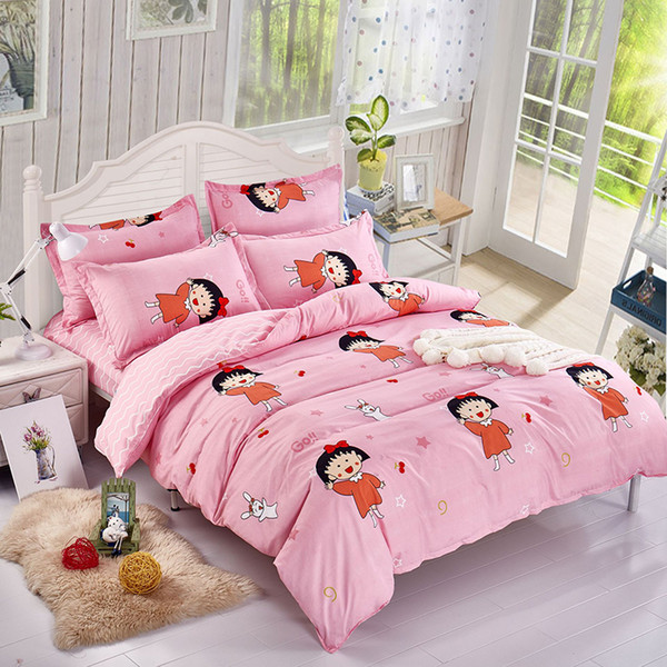 Kinder Mädchen Rosa Bettbezug Bettwäsche Set Single Twin Full Double Size Bettwäsche Quilt Tröster Kissenbezug 24