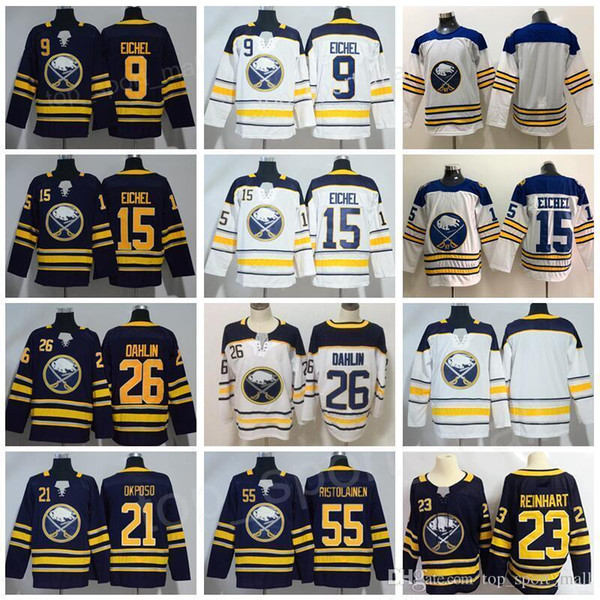 new products db0d9 430e5 2019 Buffalo Sabres 9 Jack Eichel Hockey 26 Rasmus Dahlin Jerseys 21 Kyle  Okposo 55 Rasmus Ristolainen Blue White Winter Classic Man Woman Youth From  ...