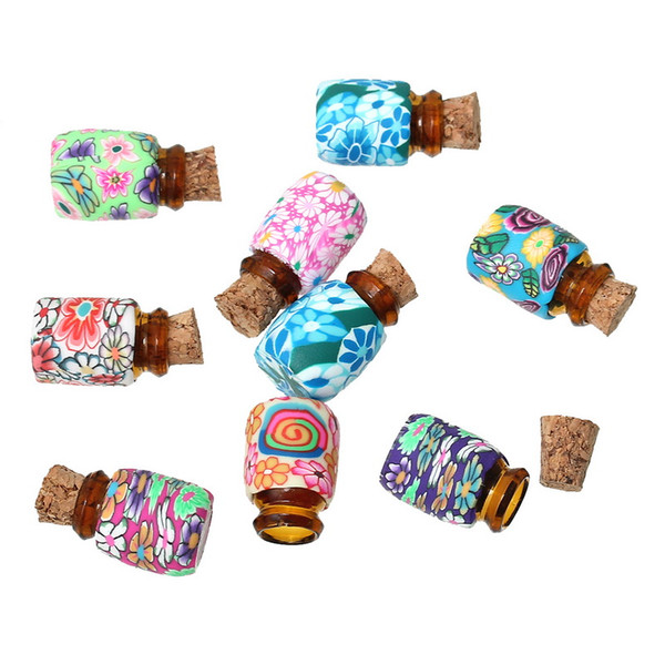 storage bottle mini round colorful floral small glass bottles storage containers vials with corks organizer accessories 80pcs - from $19.21