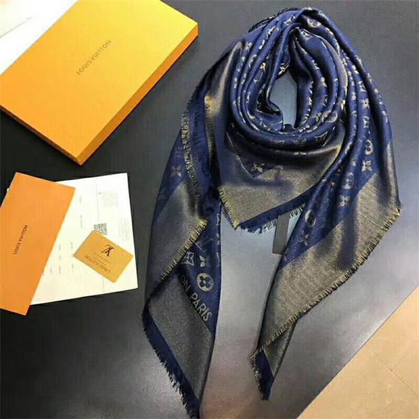 Écharpe en laine de soie de haute qualité de nouveau créateur de marque de soie cachemire femmes foulards carrés châle taille 140x140cm