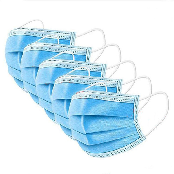best selling Protective mask disposable blue three-layer anti-dust mask