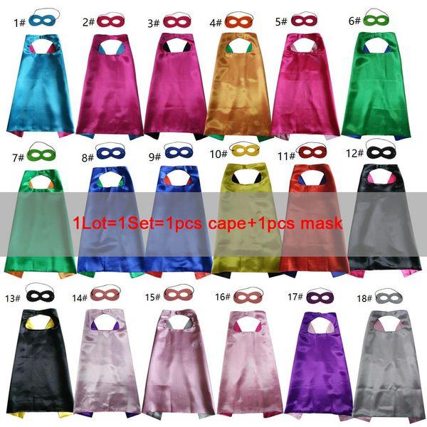 Kinder Superhelden Umhänge und Masken Party Kostüme Set Dual Farbe für Jungen Mädchen Rolle Cosplay Kostüm