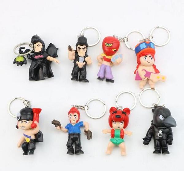 8 stile combattente stella action doll bambola portachiavi giocattolo nuovi bambini cellulare secchio stella raccolta borsa ciondolo giocattoli regalo per bambini