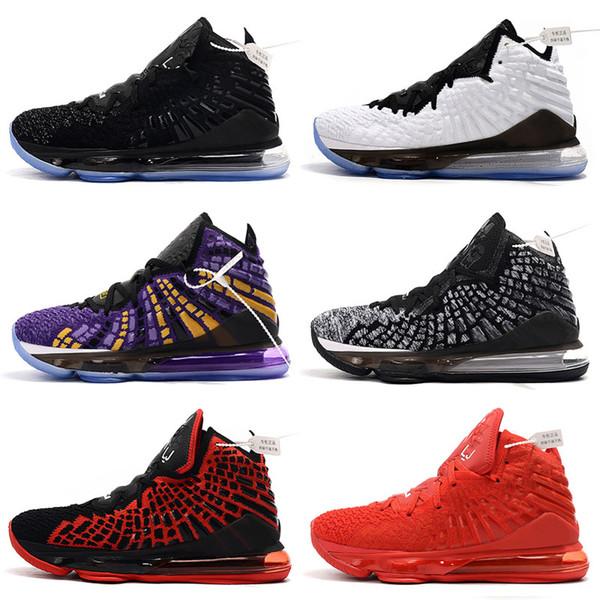 Haute Qualité Ce que les James Lebron 17 Lebron XVII Enfants Hommes Femmes Noir Violet Jaune James 17s Baskets Chaussures de sport Chaussures de basket-ball