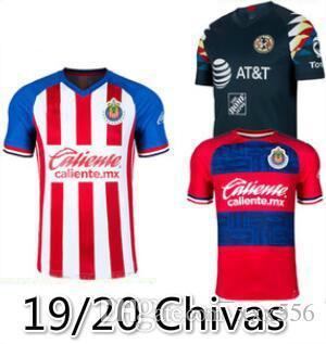 NOUVELLES 2019 2020 LIGA MX Club de Chivas de Guadalajara Soccer Jersey 19 20 Camisa de Futebol Troisième Maillots Chemises PULIDO Football