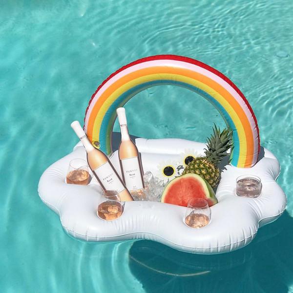 Wasser Bartheke Party Spielzeug Schwimmbad Zubehör Regenbogen aufblasbare Float Luftmatratze Wasserspiel Spiel Drink für Kinder