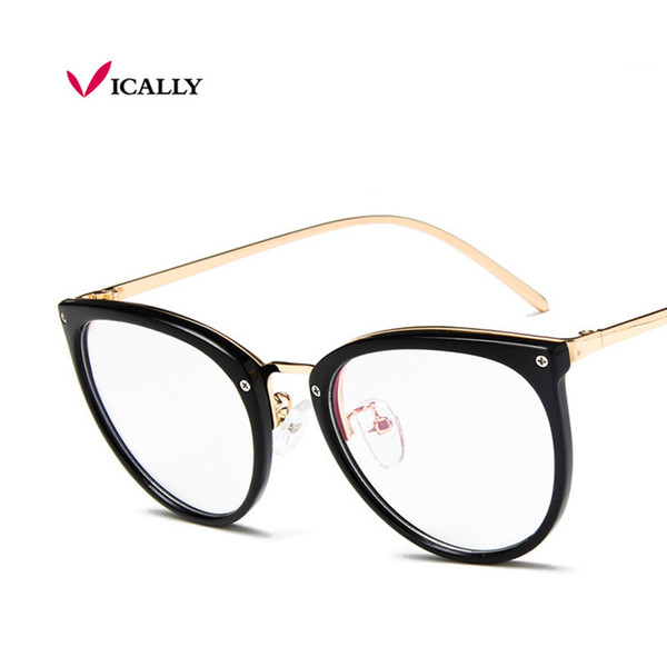 NEW Glasses Frames Woman/Man Eyeglasses Frame for Myopia Vew Plica Eye Glasses Plain Mirror Glass Vintage Black Spectacles