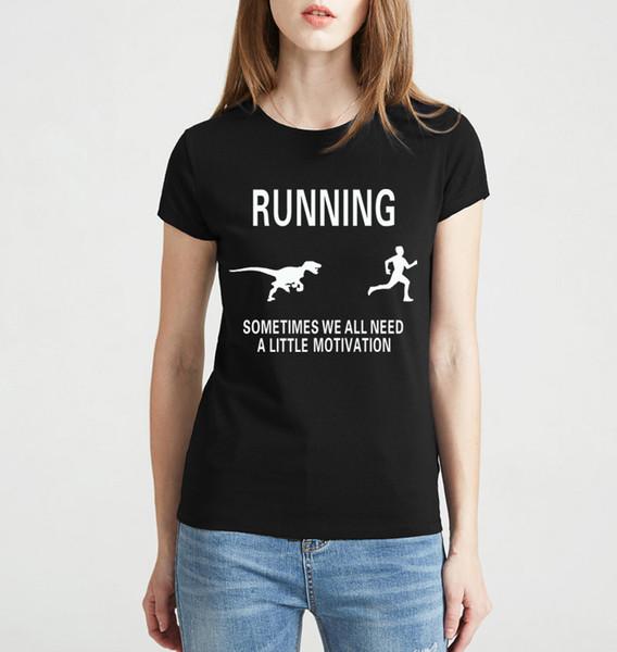 2019 Sommer-Fitness-Mode Motivieren Runners Druck T-Shirt Frauen Marke Tops Harajuku-T-Shirt rosa T-Shirt lustigen kurzen Ärmel camisetas
