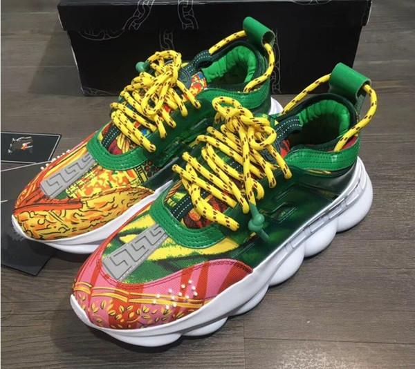 2019 verão novo casal respirável calçados esportivos sapatos de fundo grosso Medusa homens e mulheres sapato mn89603