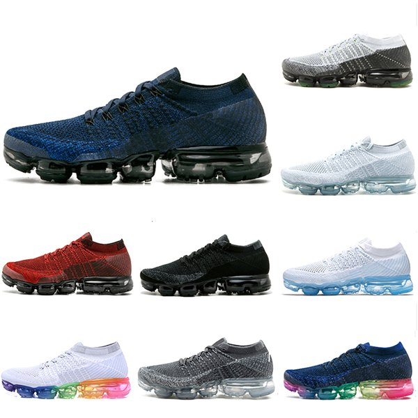 New Arrival Rainbow 1.0 Mens Running Shoes Breathable Gray Black White Blue Red Womens Trainers Sneakers Unisex Outdoor Sports Shoes 36-45
