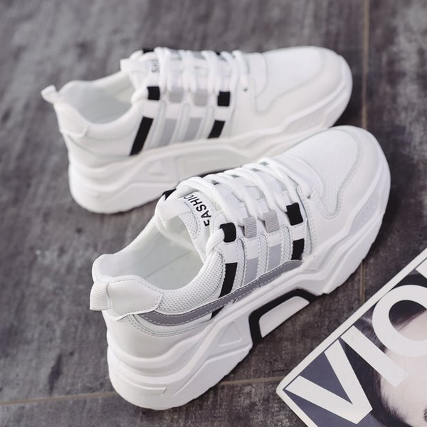 Dad Shoes and Girls In The Fall of 2019 New 100 Breathable Korean Version of Sports Shoes Female Students Casual Shoes Running Sneakers