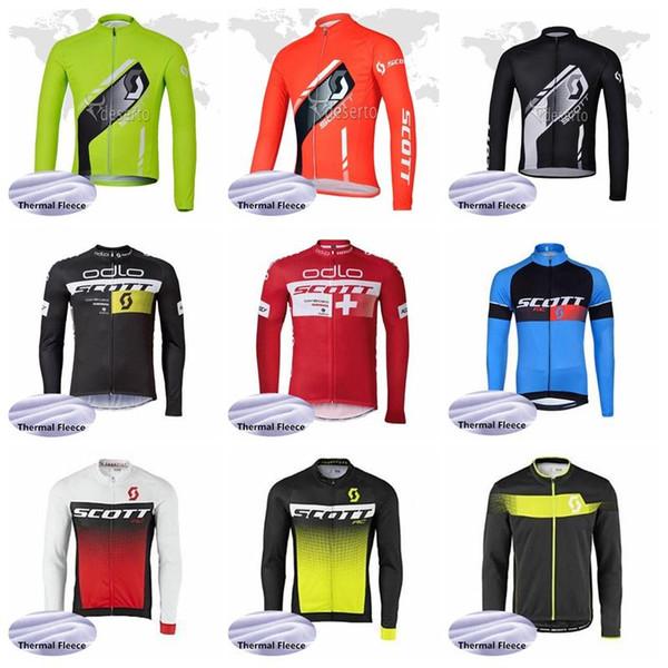 Equipo SCOTT 2019 de manga larga, ropa de ciclismo Ropa Ciclismo Ropa térmica de invierno Ropa de ciclismo Ropa de ciclismo de MTB K013128