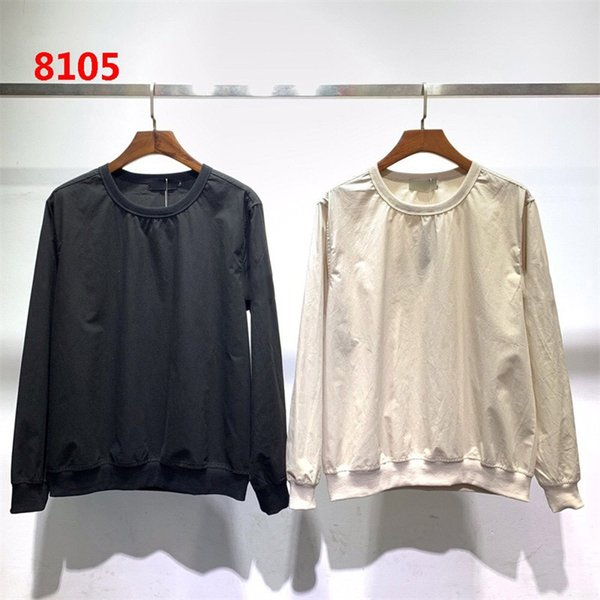 top popular dropshipping 2019 Men Desiger T-shirt Women Couple 19ss Autumn and Winter Ghost Series Nylon Thin Sweater casual sweater sweater M-2XL 8105 2020
