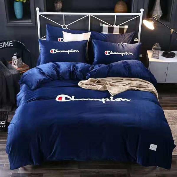Letter Print Bed Cover Set Polyester Duvet Cover Adult Child Bed Sheets And  Pillowcases Comforter Bedding Set KKA6976 Train Bedding Kids Bedroom ...
