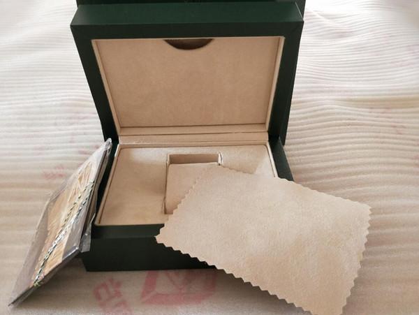 Завод поставщик зеленый оригинальный футляр бумаги подарочные часы коробки кожа