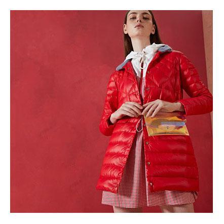 Progettista delle donne lungo Giù cappotto casuale solido colore del mantello donne attive Designer abbigliamento invernale antivento 2019 Nuovo