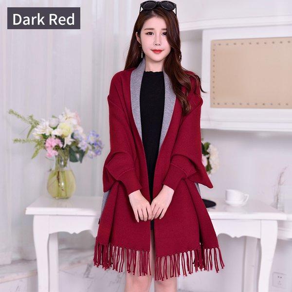 Dark Red Gray-210x70cm