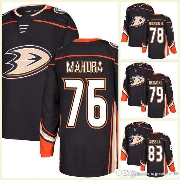 Custom Anaheim Ducks 76 Mahura Olle Eriksson Ek Angus Redmond Kalle Kossila Austin Ortega Soy Brady Lyle Mitch Hults Jerseys de hockey