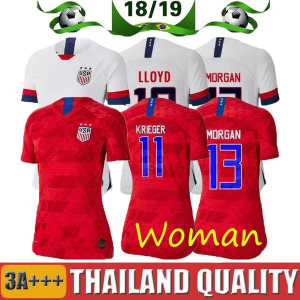 Новый чемпионат мира по футболу 2019 2020 года Америка девушка Футбол Джерси США дома в гостях футболка США женщины ЛЛОЙД РИПИНОЕ КРИГЕР Футбольная форма женский