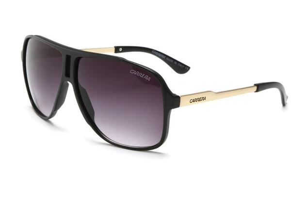 luxury men brand designer sunglass attitude sunglasses square logo on lens men brand designer sunglasses shiny Black gold Brand New