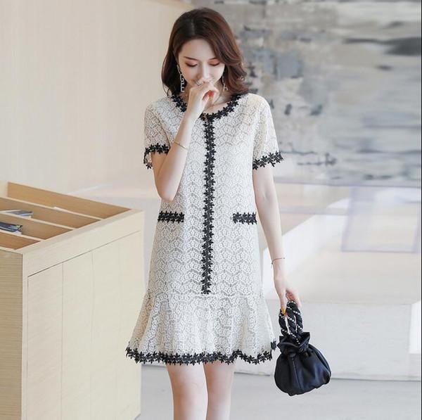 Marchandises européennes de la marque Hong Hong Kong magasin discount marée 2019 été haut de gamme robe luxe grand nom